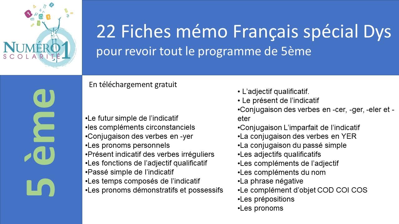 Exercices Et Lecons Francais 5eme A Telecharger Archives